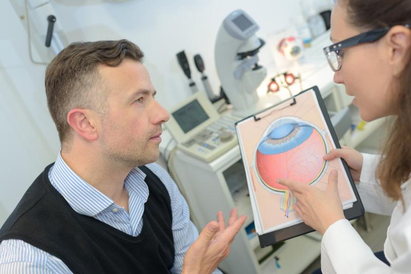 narzędzie do badania dna oka
